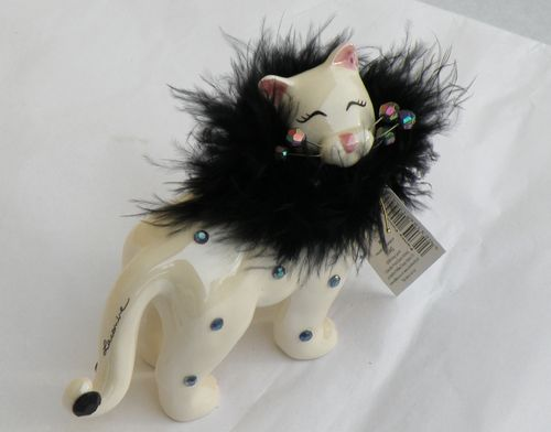 CHAT PORCELAINE BLANCHE
