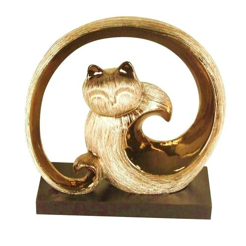 STATUETTE CHAT METEOR
